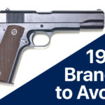 1911 Gun Pistol with the words 1911 Brands to Avoid